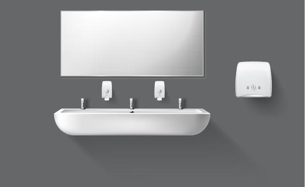 Touchless bathroom equipment