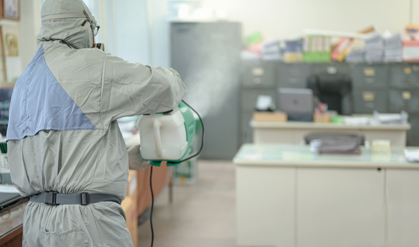 electrostatic cleaning against coronavirus