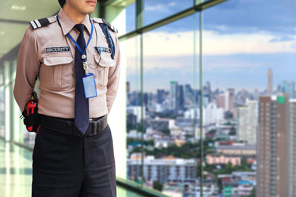 security-guard-modern-office-building